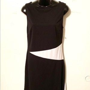 A-List by Wrapper Black & White Sleeveless Dress M